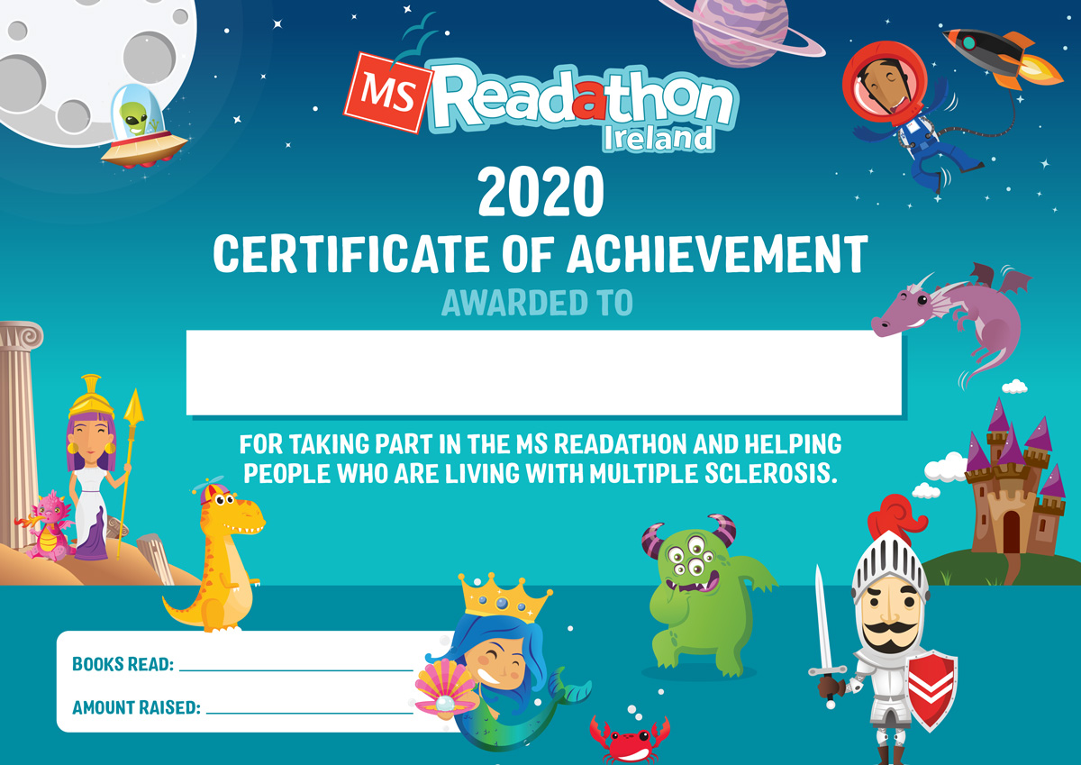 MS Readathon Participation Certificate
